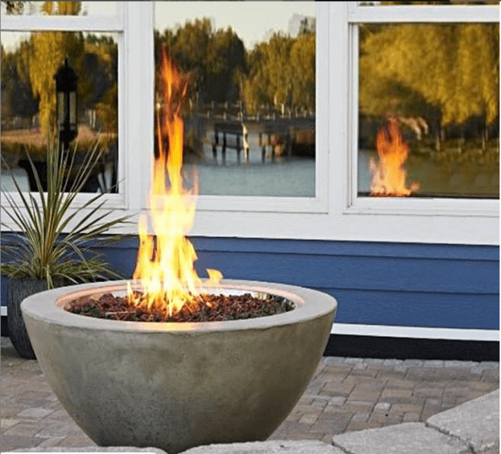 Custom Gas Fire Pits Fireplace Corner, Gas Outdoor Fire Pit