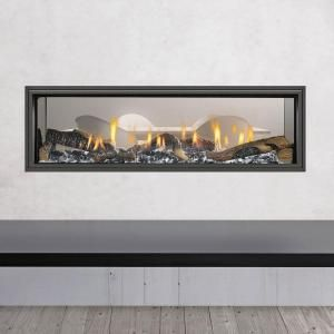Double Sided Gas and Wood Fireplaces