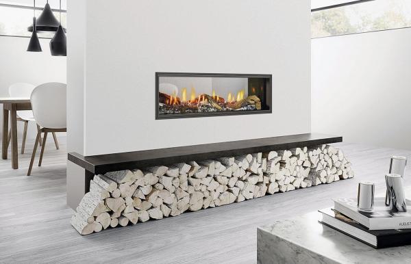 Heat & Glo Mezzo 1300 Double Sided - Gas 1
