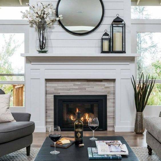 One effortless trick to guarantee a beautiful fireplace mantel. 3